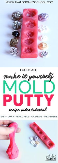 Make It Yourself Mold PUTTY! It's sooo easy and it's food safe, remeltable and you can find all the ingredients at your local grocery store...!!! www.avaloncakesschool.com