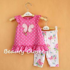 >> Click to Buy << Baby Girl Clothes Set Pink Top Dress + Legging Birthday Outfit Summer Style Casual Baby Clothes #Affiliate