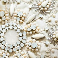 White wonder: jewel and bead detail #toryspring14 #nyfw