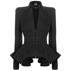 McQueen  BLACK COTTON CANVAS EDWARDIAN JACKET by sadie