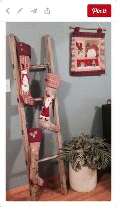 Prim Stockings on Ladder