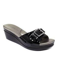 Bandolino Yarbo Wedge Slide Sandals