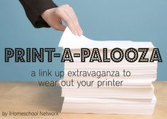 Print-a-Palooza! link party with tons of FREE printables for your homeschool!! Definitly need to look through these when I have more time.