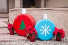 How To Make Christmas Ornaments from Old Tires