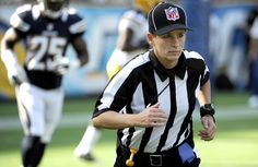 Shannon Eastin broke the NFL's on-field gender barrier, erving as the line judge for a seven-man crew working a preseason game between the Green Bay Packer and San Diego Chargers, August Girls Basketball Shoes, Basketball Uniforms, Football And Basketball, San Diego Basketball, Nfl Preseason, She's A Lady, Basketball Leagues, San Diego Chargers, Nfl News