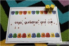 """""""Stop, Gumdrop and Roll"""" Addition Game (from Miss Kindergarten)"""