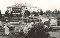 View of Katoomba Railway Station and Carrington Hotel, c1885. Digital ID 17420_a014_a014000742