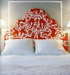 Curved top, upholstered headboard