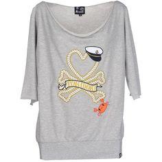 Tokidoki Sweatshirt ($52) ❤ liked on Polyvore featuring tops, hoodies, sweatshirts, grey, print tops, tokidoki, print sweatshirt, cotton 3/4 sleeve tops y 3/4 length sleeve tops