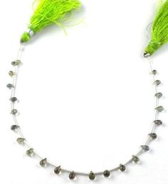 """1 Strand Natural Sapphire Faceted Teardrops 2x3.5-3x3x6mm Gemstone Beads 7"""" Long"""