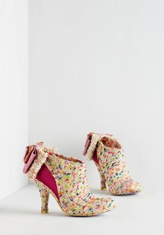 Irregular Choice Peek-a-Boucle Bootie. Flaunt your fiercely femme side in these bold booties from Irregular Choice's Iconic label! #multi #modcloth