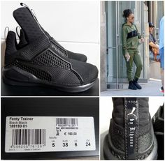 7301d6d3ce3f PUMA FENTY TRAINER By RIHANNA 189193-01 Sneakers 100% AUTHENTIC UK 5