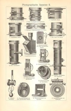1905 Vintage Photo Camera Parts Photo by CabinetOfTreasures