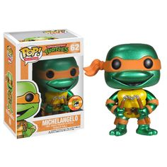 Metallic Michelangelo comic con exclusive