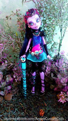 Jane Boolittle Custom Repaint Monster High Doll by angelcardart, $140.00