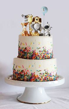 Baby animals cake birthday Ideas for 2019 cake decorating recipes kuchen kindergeburtstag cakes ideas Animal Birthday Cakes, Baby Birthday Cakes, 1st Boy Birthday, Birthday Cake For Kids, Cake Baby, 1st Birthday Party Ideas For Boys, Birthday Animals, 2nd Birthday Party For Girl, Cakes For Boys