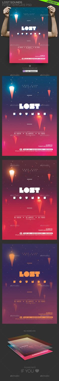 Lost Sounds Flyer/ Poster Template PSD