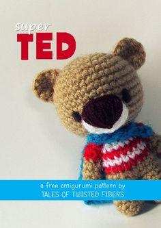 SUPER TED FREE AMIGURUMI PATTERN