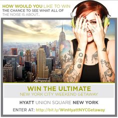Would you like to win the ultimate #NYC weekend getaway including a stay & #Beats by Dre headphones from @HyattUnionSqNYC. Click the image to enter to win!
