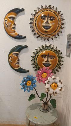 Barro Moon & Sun Mexican Garden, Moon, Wreaths, Halloween, Design, Home Decor, Old Town, Barbell, The Moon