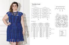 Delicadezas en crochet Gabriela: Talles grandes faldas y vestidos