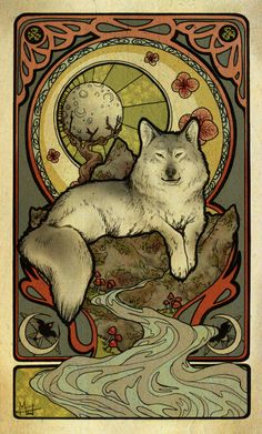 COMMISSION - Gray Wolf by Womaneko