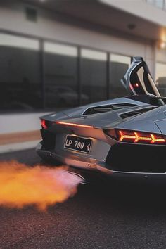 Spitting flames! The power of #Lamborghini engines! What happens when 12 Lambo's spit fire in one #Dubai car park? Hit the link to