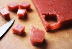 homemade fruit snacks :: 4 ingredients these look yum for kid inside who loves them some fruit snacks (Fruit rollups)