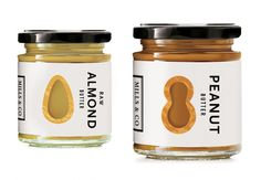 Mills & Co. Almond and Peanut Butters // via Lovely Package