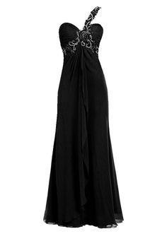 Plus Size Black Evening Gowns | 2013 plus size prom dresses cheap one shoulder gowns under 100 dollars