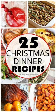 The ultimate Christmas dinner recipe list! Everything from main dishes to sides, homemade rolls and more.