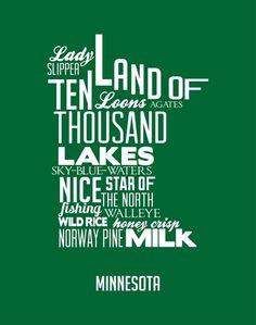 Minnesota Art Print by Kelly Jane.