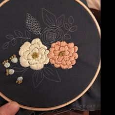 added a photo of their purchase Wooden Embroidery Hoops, Dmc Embroidery Floss, Embroidery Motifs, Embroidery Needles, Cross Stitch Embroidery, Embroidery Patterns, Cushion Embroidery, Cross Stitch Rose, Crafty Kids