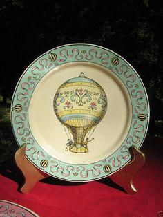 1960's Vintage Lillian Vernon Collectable Decorative Hot Air Balloon Plates  #LillianVernon