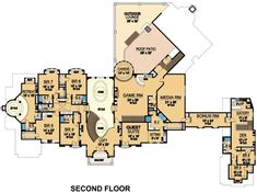 Luxury Plan: 14,727 Square Feet, 8 Bedrooms, 10 Bathrooms - 5445-00230 Mountain House Plans, Family House Plans, Best House Plans, Dream House Plans, House Floor Plans, Dream Houses, Luxury Floor Plans, Luxury House Plans, Modern House Plans