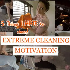 Hi guys! I have some EXTREME CLEANING MOTIVATION FOR YOU! I am doing a TWO PART SERIES over here on my channel about 5 things I hate to clean and 5 Things I love to clean! So be on the lookout for PART 2 next week