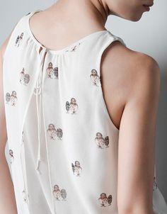 OWL PRINT TOP - Shirts - TRF - ZARA