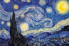 """Starry Night"" Print by Vincent Van Gogh  - Vincent Van Gogh posters and prints available at"