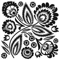 Servietten Napkins 33x33cm Serviettentechnik Blume abstrakt schwarz weiß