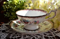 Vintage Coalport Fine Bone China Tea Cup and by LaBellaVintage, $31.99