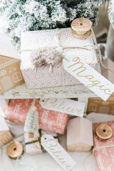 darling gift wrap ideas via Liz Marie Blog