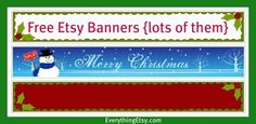 Free Etsy Banners/tutorials for banners