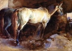 The Athenaeum - The Favorite Horse (John Singer Sargent - ) 1908