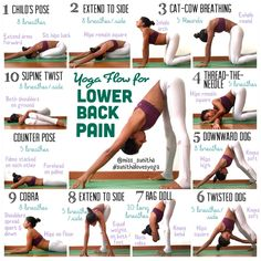 Yoga poses for lower back pain Check my Instagram account @miss_sunitha for details and cues on the poses. #sunithalovesyoga #estiramientos