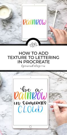 Using a subtractive method for lettering in Procreate is actually much easier than it sounds and helps you create some fun, colorful and textured pieces. I love using the subtractive method in the Procreate app Calligraphy For Beginners, Calligraphy Tutorial, Lettering Tutorial, Hand Lettering Practice, Brush Lettering, Affinity Designer, Ipad Art, Design Tutorials, Graffiti Alphabet