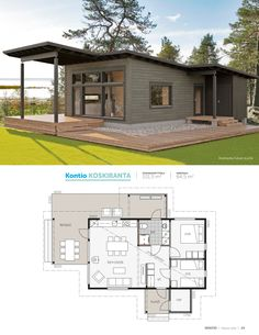 Small Modern House Plans, Narrow House Plans, Duplex House Plans, Dream House Plans, Building A Container Home, Container House Design, Small House Design, Modern Bungalow House, Tiny House Loft