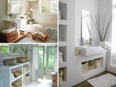 Idealmente, uma casa de banho deve ser ampla e ter janelas, para receber a luz solar.