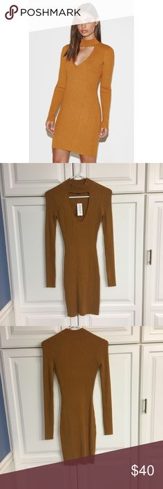 NWT Kendall & Kylie Ribbed Mock Neck Sweater Dress Soft and stretchy material, tight fitting and accentuates curves! PacSun Dresses Long Sleeve
