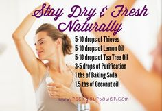 All Natural DIY Alternative to Deodorant May Match & Trump Brand Name Antiperspirants   Try It!