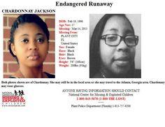 Endangered Runaway: CHARDONNAY JACKSON, 17, was last seen in Plant City, Florida on 3/14/2013.
